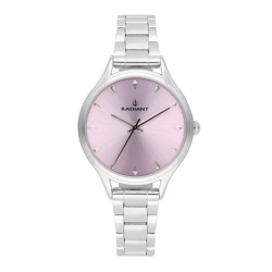 AMIRA 36MM PINK DIAL SILVER...